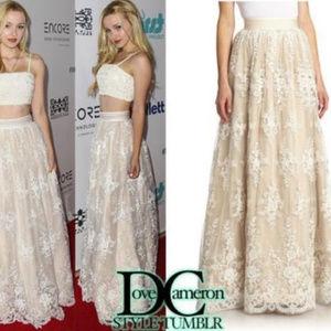Alice + Olivia Maxi Lace Bridal Skirt Size 8 New